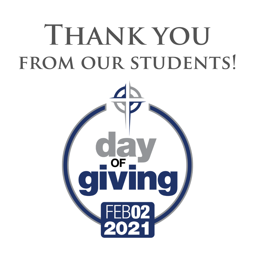 Day of Giving – A Message of Thanks!